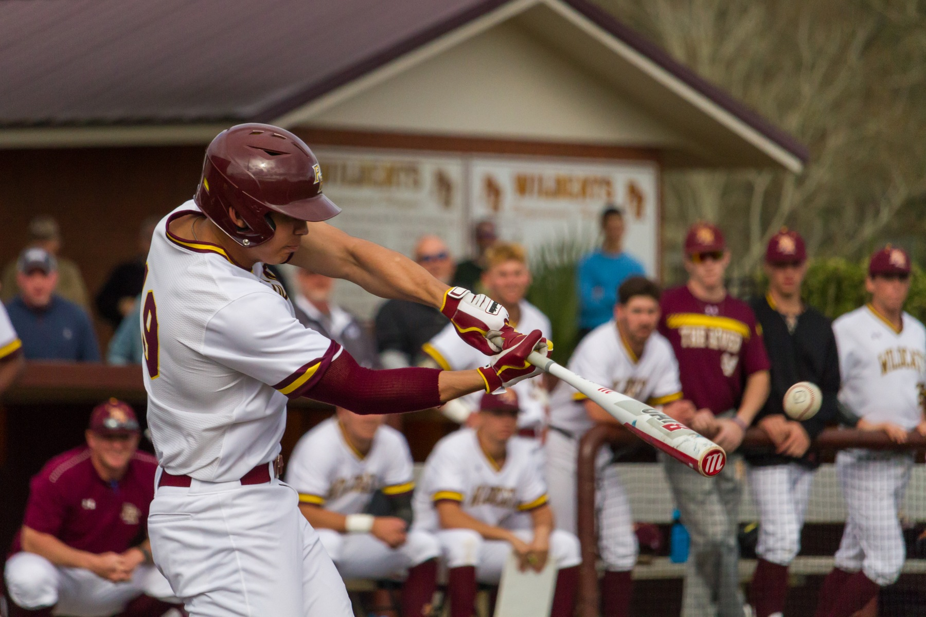 No. 8 Pearl River opened the 2019 season at the newly renovated Dub Herring Park in Poplarville, Miss., on Sunday, Feb. 10, 2019, against Jefferson College. The Wildcats and Vikings split the doubleheader, with JC winning 5-3 in 13 innings and then PRCC won 5-4 in a walk-off in Game 2. (BRETT RUSS/PRCC ATHLETICS)