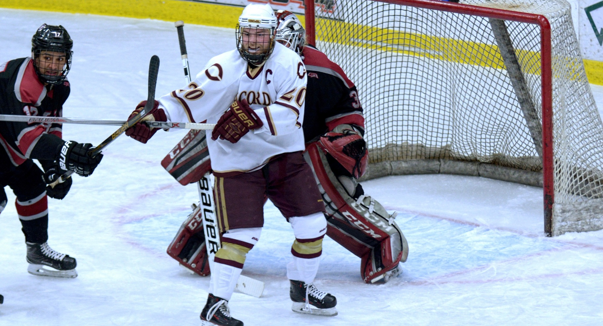 Senior captain Jeremy Johnson scored the Cobbers' lone goal in the MIAC semifinal game at St. Thomas.