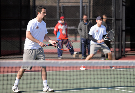 Men's Tennis blanked by Haverford, 9-0