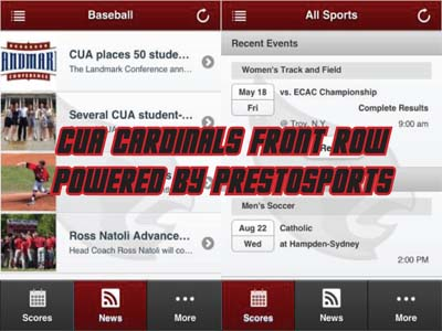 CUA Cardinals Front Row mobile app now available for download
