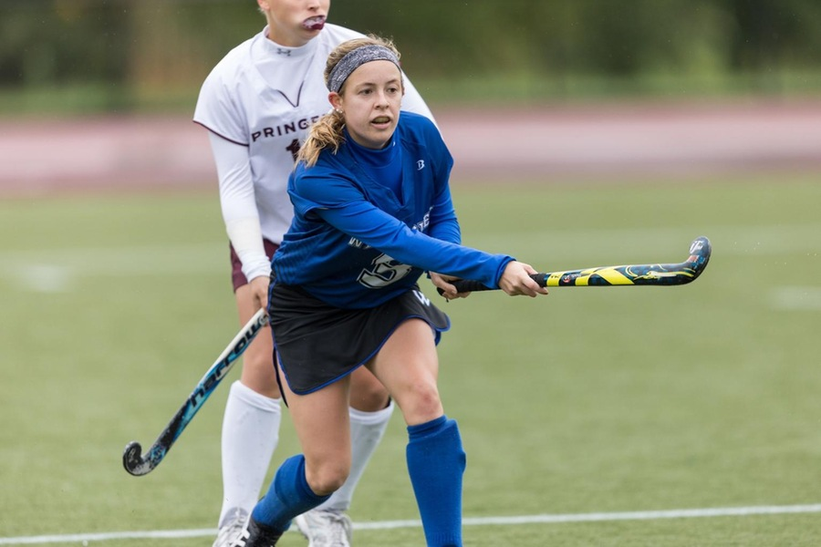 Senior Haley Chrobock scored her first career hat trick to lead the Blue to the victory (Frank Poulin).