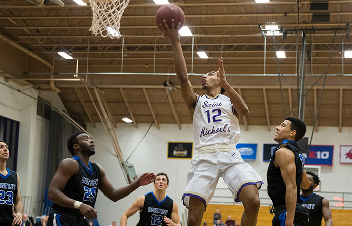 Men's Basketball Loses NE10 Contest at Regionally-Ranked Saint Rose