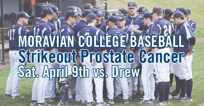 Moravian Baseball Hosting Strikeout Prostate Cancer Week April 4-9