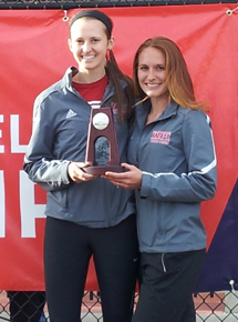 All-Americans Laura Pumphrey and Julie Eagle