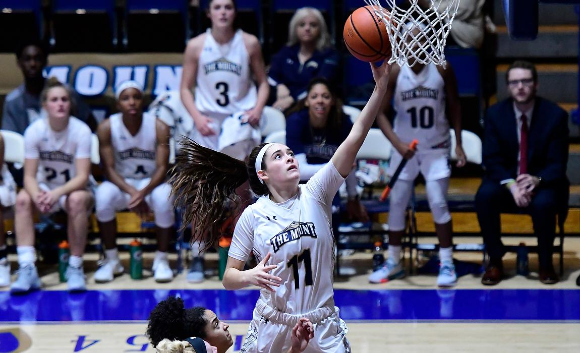 Mount Women's Basketball Etches Record Book, Dominates Frostburg