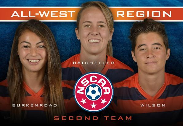 Batcheller, Burkenroad, Wilson Named to NSCAA All-West Region Team