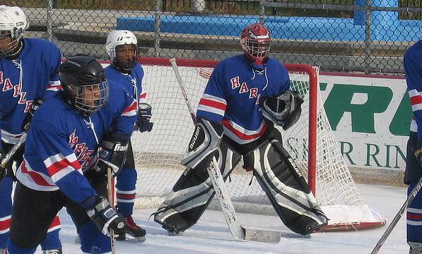 To take part in ice hockey in harlem at lasker rink ecac hockey
