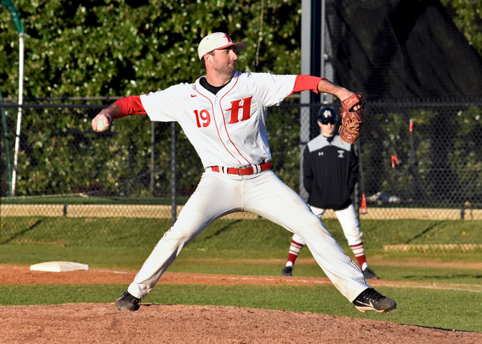 Winning pitcher Zach McGrady pitched his fourth complete game of the season in Friday's 10-3 win over Methodist. (Photo by Wesley Lyle)