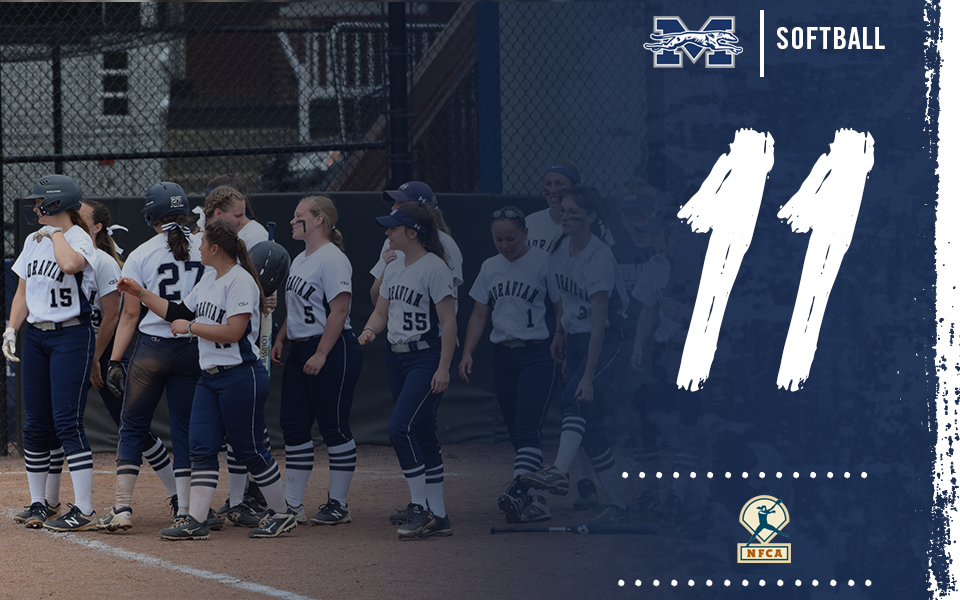 Moravian Softball is 11th in the latest National Fastpitch Coaches Association Division III Top 25 Poll.