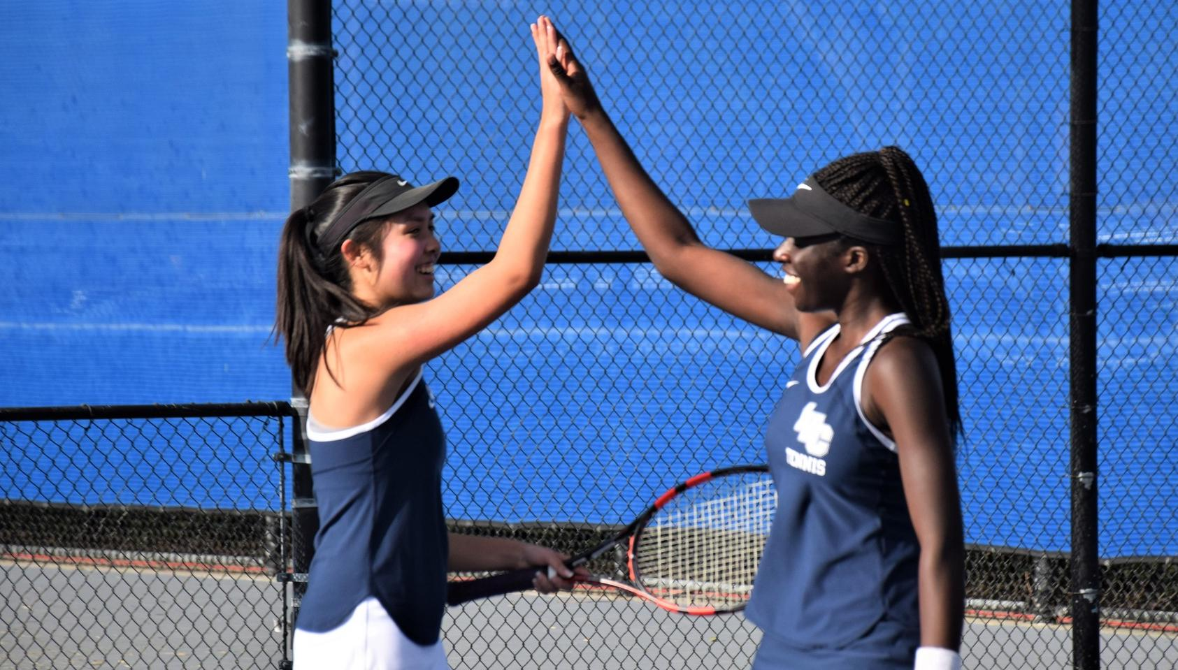 Women's tennis team beats El Camino for first win in 2019