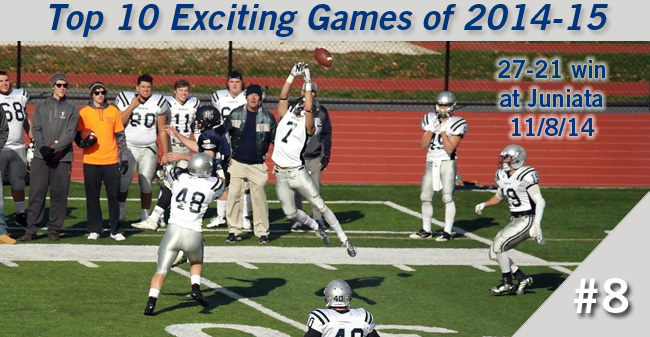 Top 10 Exciting Games of 2014-15 - #8 Football's 4th Quarter Win at Juniata
