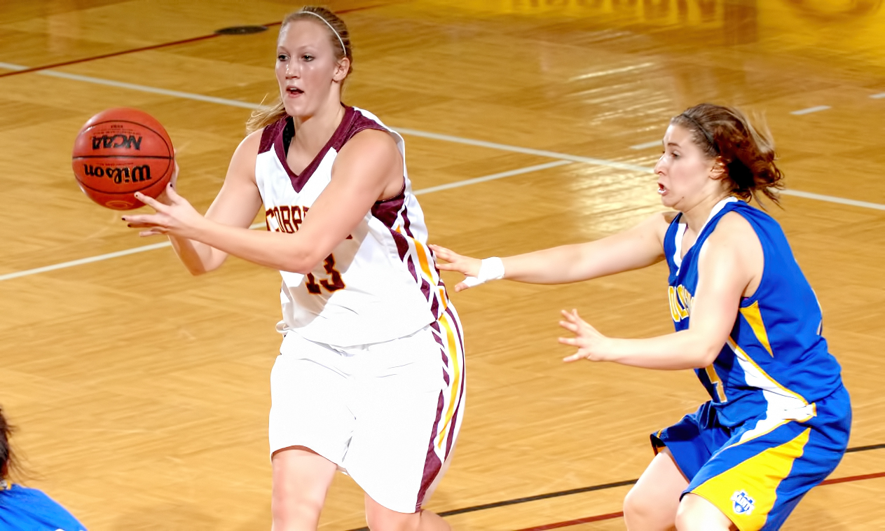 Hannah Jeske scored a career-high 17 points and added five assists in the Cobbers' overtime loss against Gustavus.