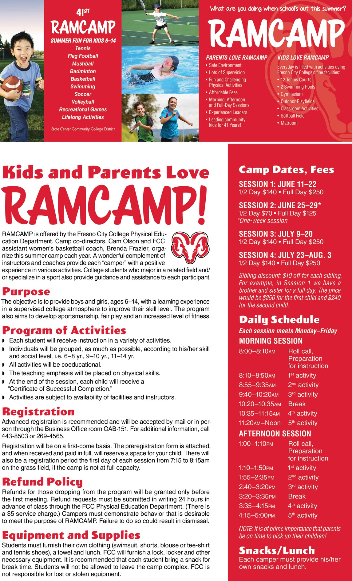 RamCamp information