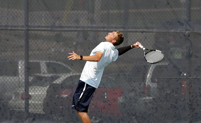 Men's Tennis Open Season with 8-1 Victory