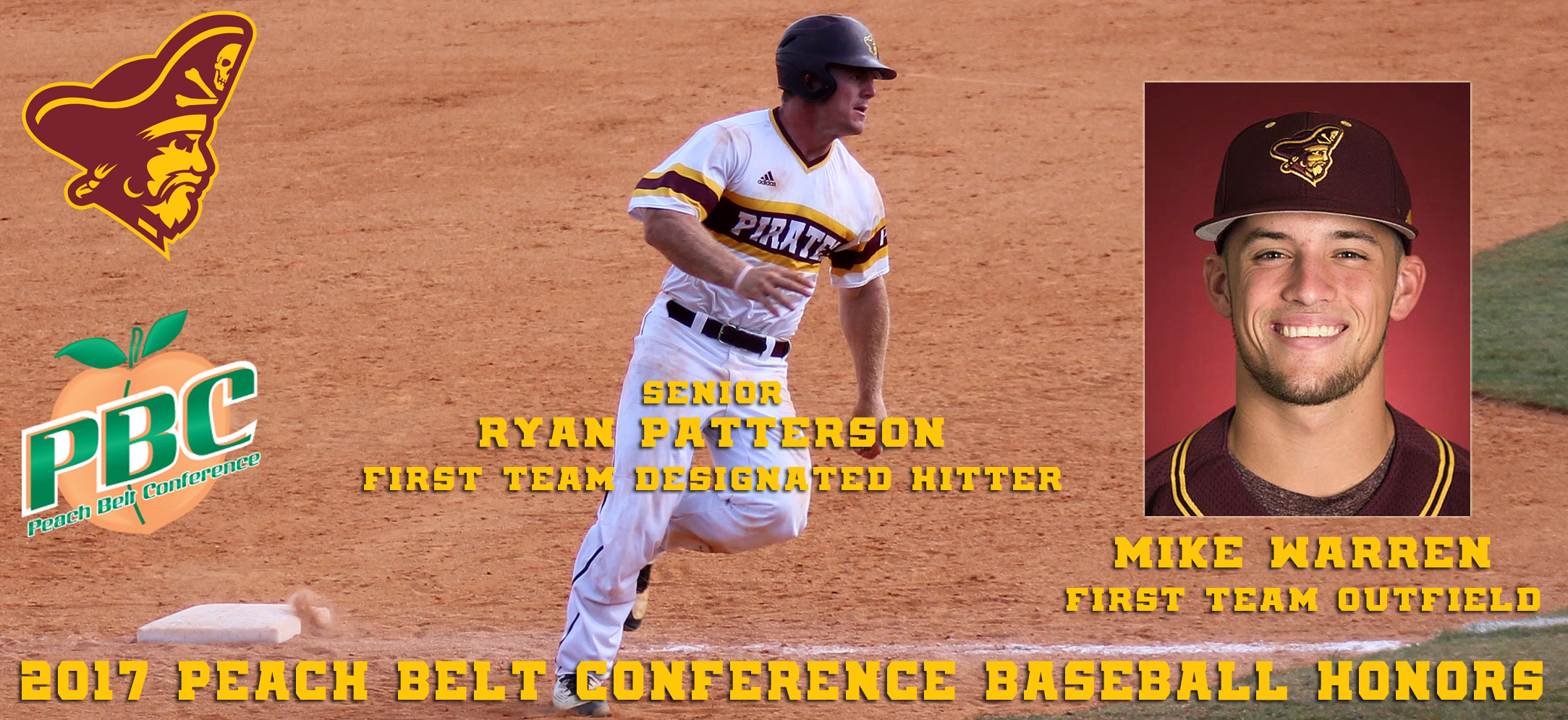 Two Pirates Earn First Team All-Peach Belt Conference Baseball Honors