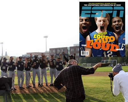 "Curtis Pride, Gallaudet baseball team featured in ESPN the Magazine ""LOUD"" issue"