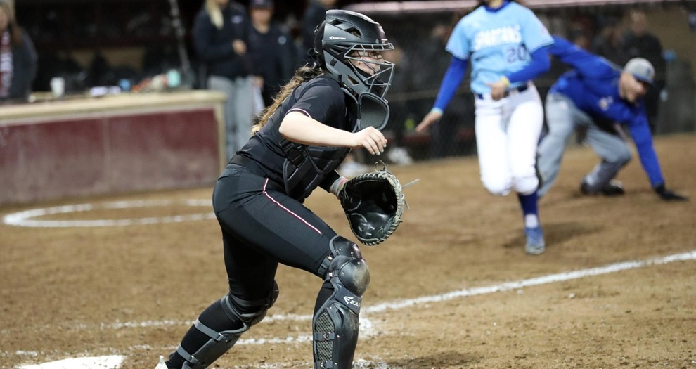 Softball Swept Behind Quiet Bats