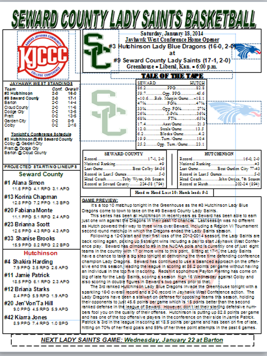 2013-2014 Women's Basketball Game Notes