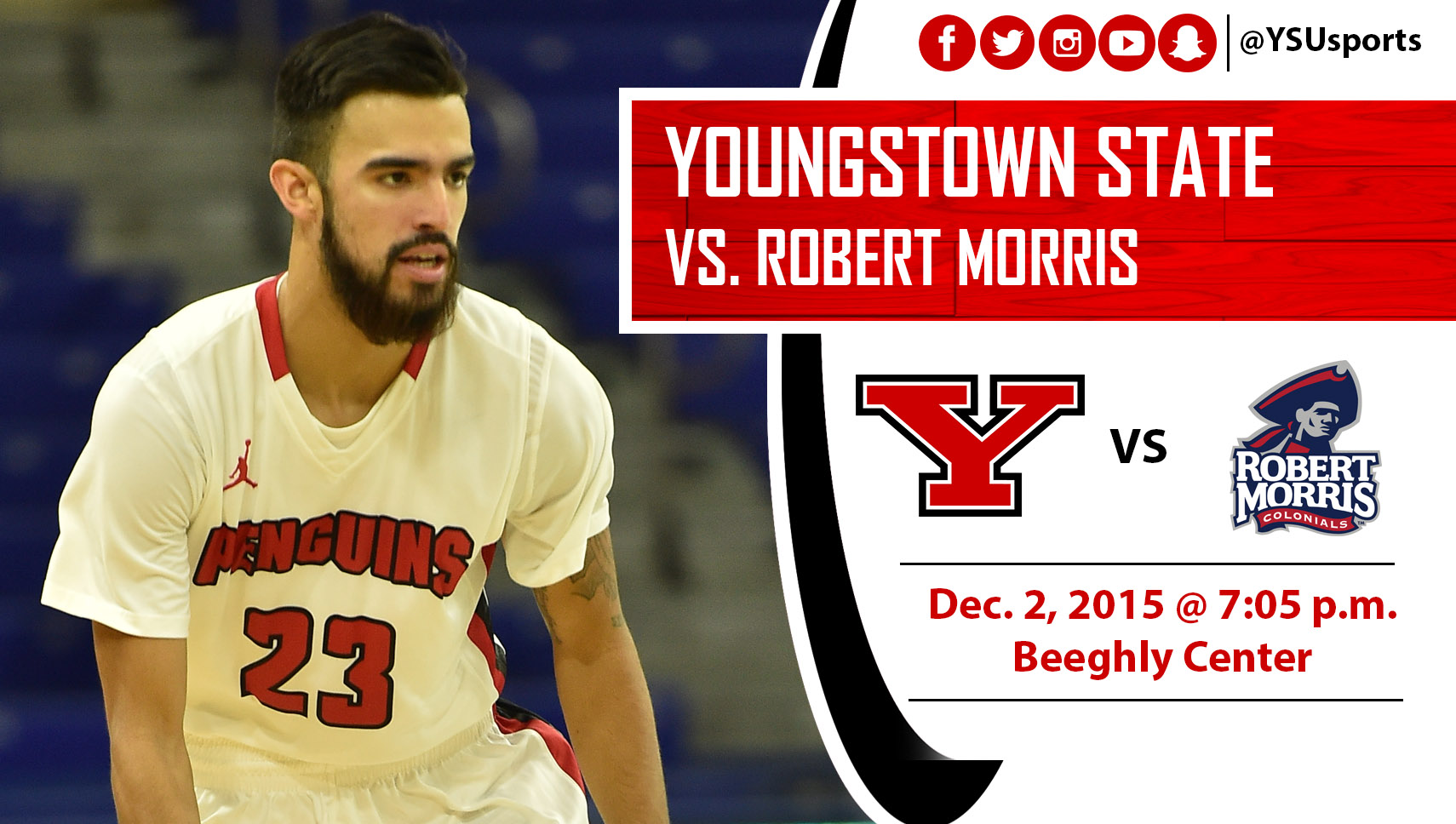 Sophomore Francisco Santiago and the Penguins host Robert Morris Wednesday