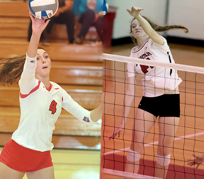 Moran, Simmons picked as Women's Volleyball Athletes of the Week