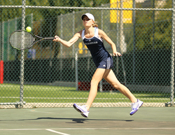 NORTON, Mass.- The Wheaton College women's tennis team won five of six singles matches en route to a 6-3 victory over the visiting Simmons Sharks during each team's season opener Saturday afternoon at the Clark Tennis Courts.