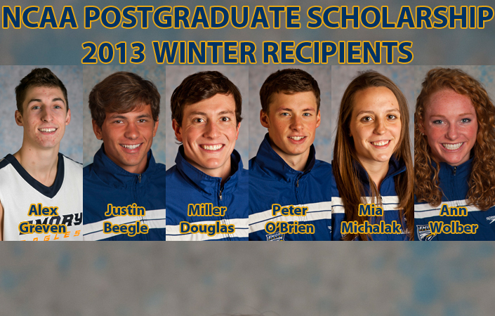 Six Emory Athletes Win Prestigious NCAA Postgraduate Scholarship