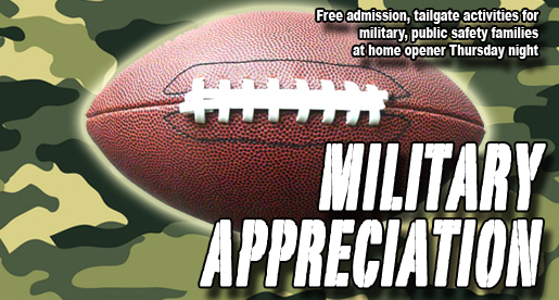 Military and Public Safety Appreciation Night Sept. 8 at Tucker Stadium