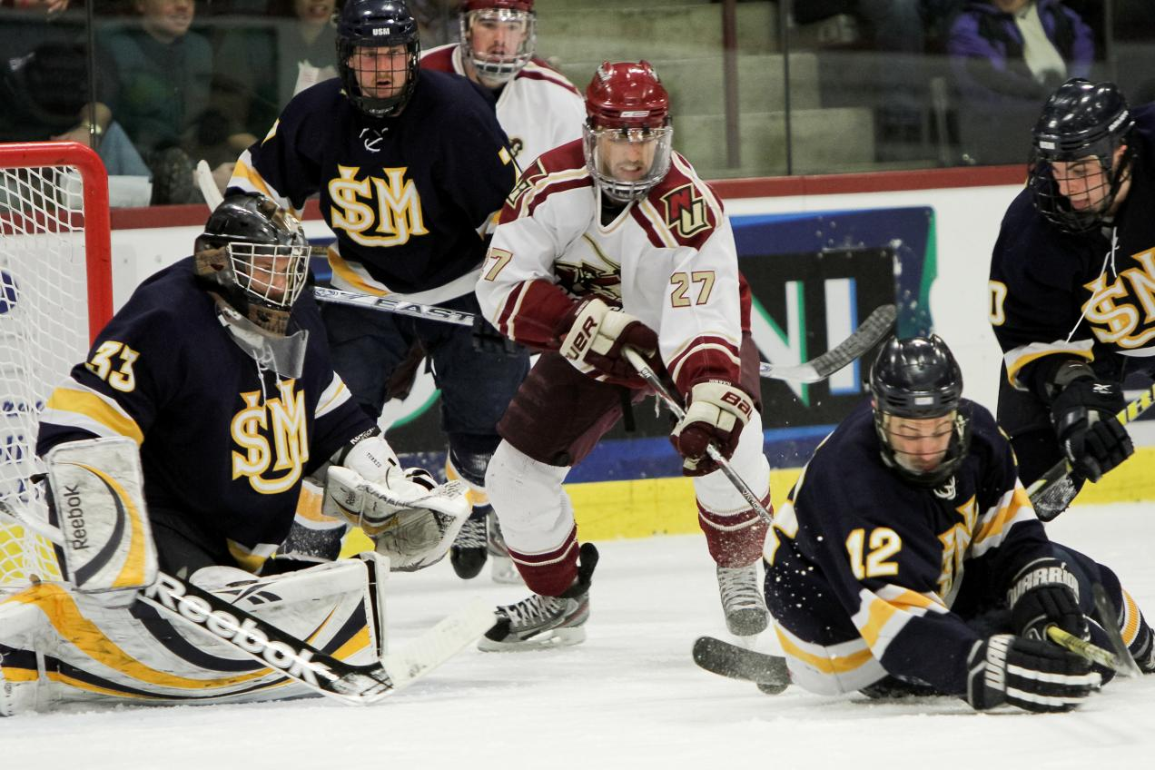 Men's Hockey: Cadets advance to ECAC East Championship with 3-2 win over Southern Maine