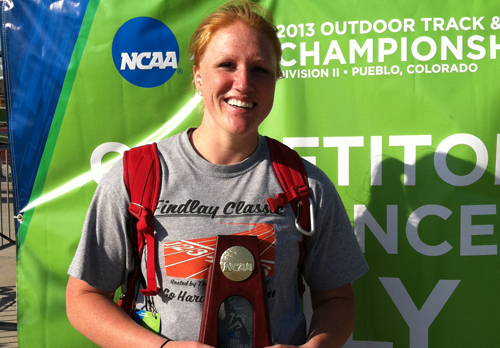 Rowland Wins National Title in Hammer Throw