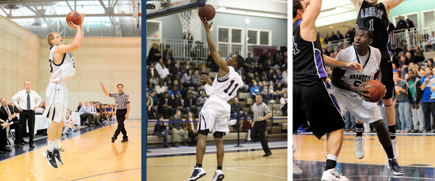 Vytas Kriskus '12, Tyrone Hughes '12 and Youri Dascy '14 earned All-UAA