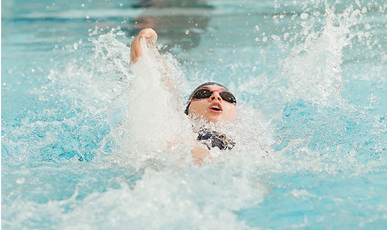 Simpson Sets Record For Swimming Diving In 195 98 Loss To Wellesley Simmons College
