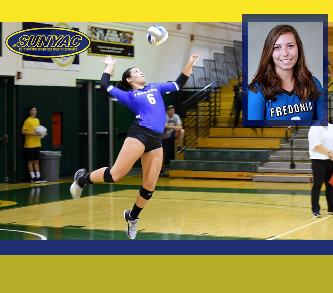 SUNYAC names Fredonia's Falk as volleyball Athlete of the Week