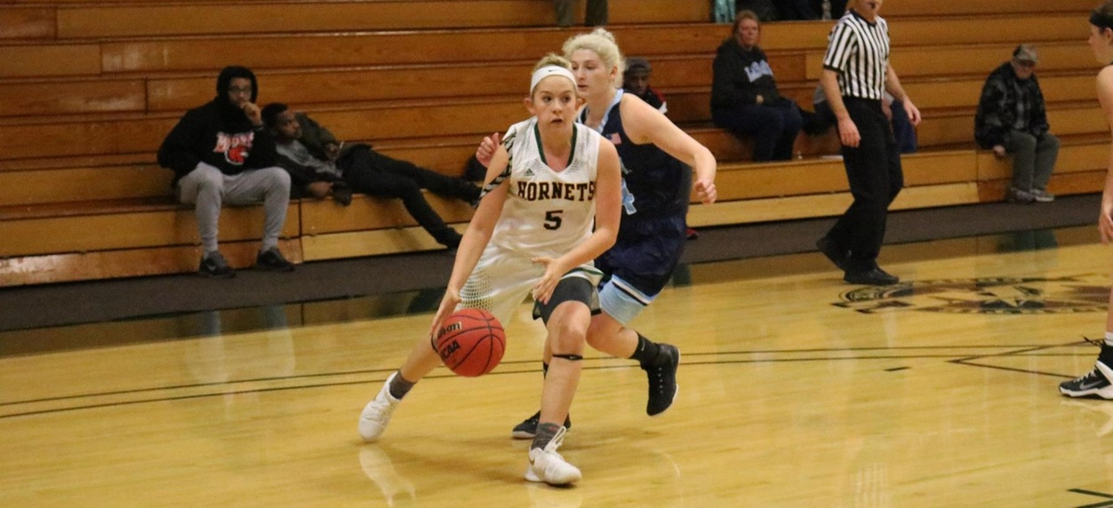 Hornet women make big first half lead hold up in win over Lasell