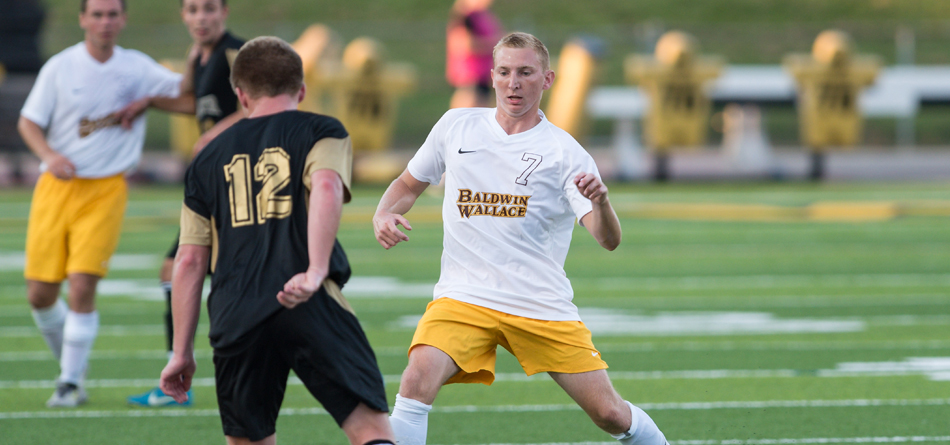 Junior Academic All-OAC forward Cannon Dees scored and assisted in BW's 3-2 loss to Allegheny (Photo courtesy of Jesse Kucewicz)