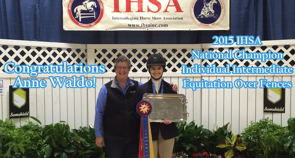 Senior Anne Waldo Leads Riding; Earns Individual National Title