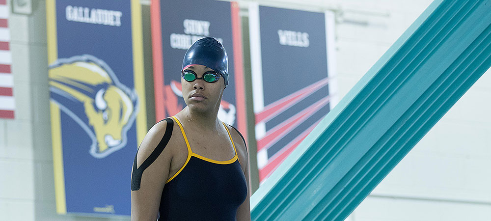 Relay teams help Gallaudet's women's team on second day of NEAC championships