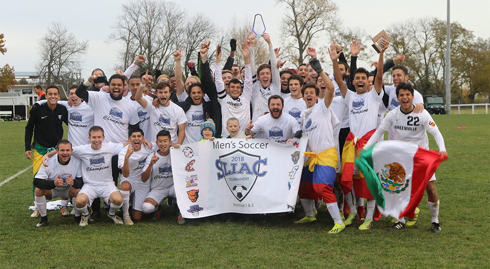 Men's soccer clinches bid to NCAA tournament with SLIAC tournament championship; Eight honored as All-Conference