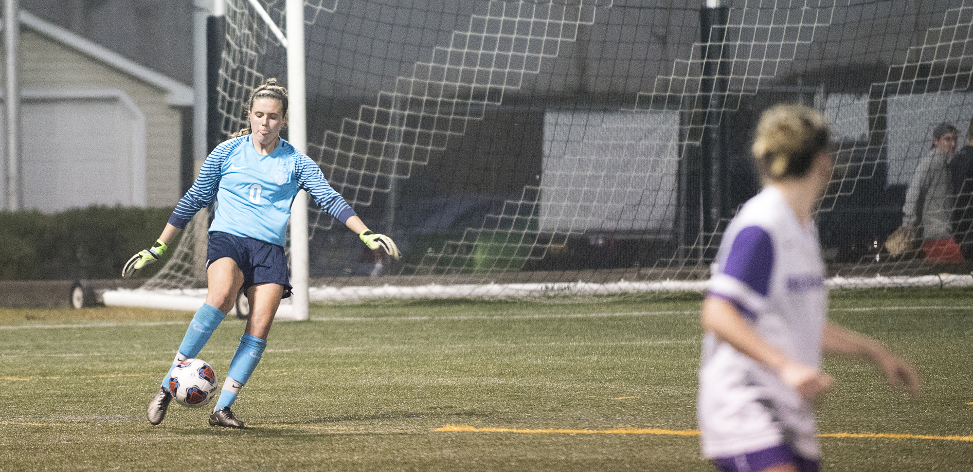 Junior goalkeeper Colleen Berry extended her shutout streak to nearly 435 minutes in the Royals' 0-0 draw with Wilkes on Tuesday.