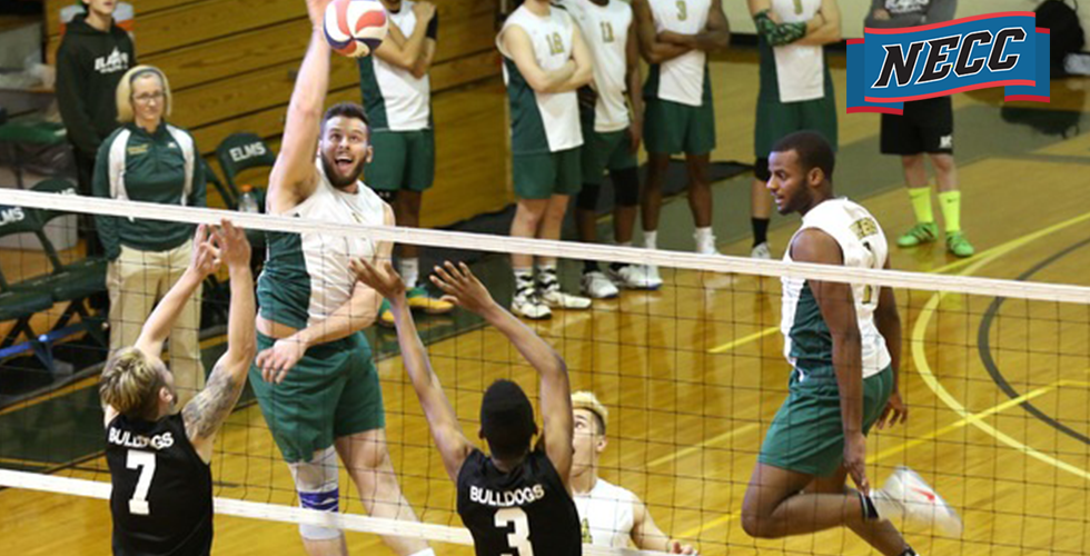 No.1 Endicott and No. 3 Elms Advance to the NECC Men's Volleyball Title Match