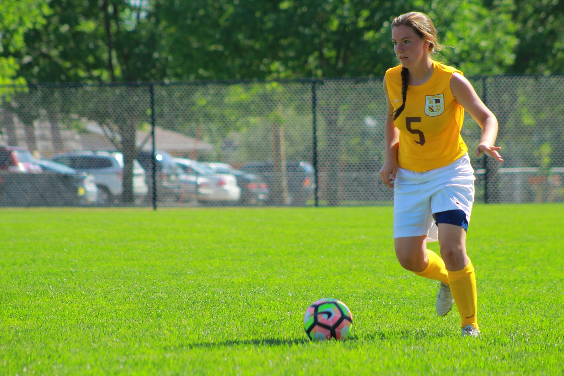 Molleigh Adams-Freund scored the only goal of the game for the Eagles in a 2-1 loss at Bethany Lutheran