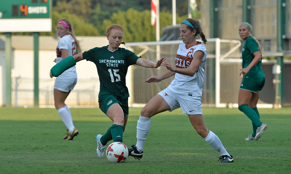WOMEN'S SOCCER TESTS UNDEFEATED TEXAS IN 1-0 LOSS