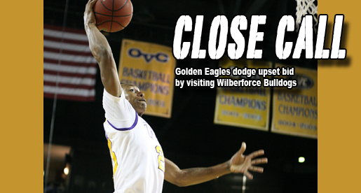 Wilberforce takes Tech to the limit; Golden Eagles win 84-83