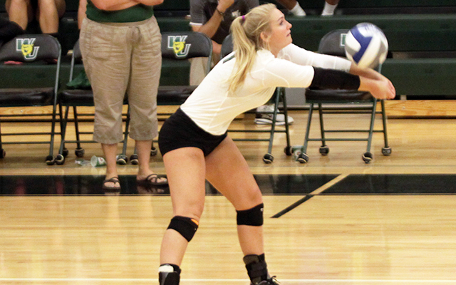 Wilmington Volleyball Takes Down Defending CACC Champions Post, 3-1; Shelby Henderson Sets Program Digs Record