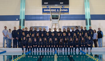Swimming & Diving Hands Out Team Awards