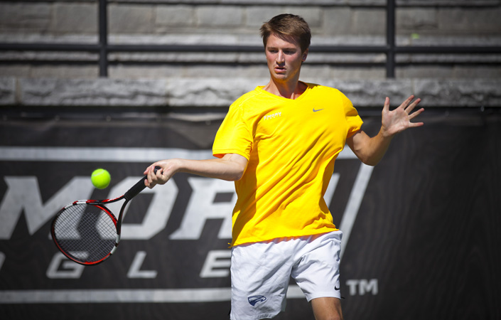 Emory Men's Tennis Fares Well On first Day Of Grizzly Open
