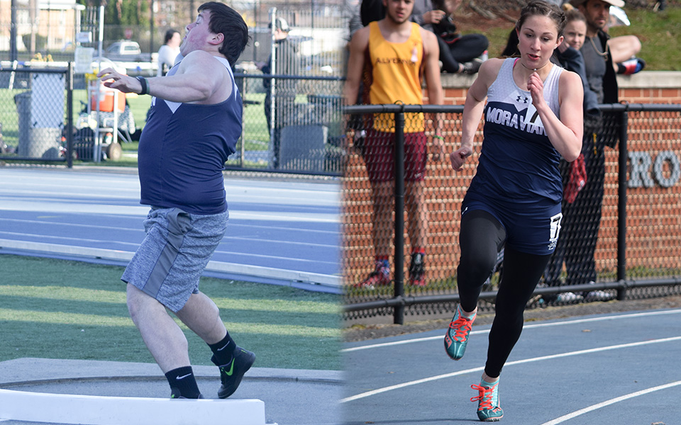 Junior Ryan Harper and sophomore Morgan Weaver compete in meets at Timothy Bredegam Track and Rocco Calvo Field during the 2018 season.