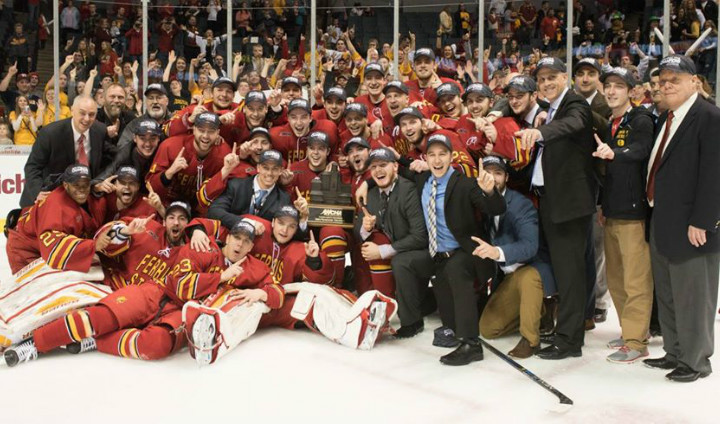 Ferris State Hockey Captures First Ever Conference Tournament Championship