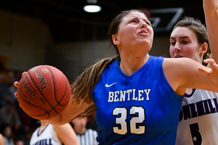 bentley uses rebound dominance to claim 25th win of season, 67-44 at