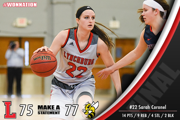 Women's Basketball Falls In OT To Randolph-Macon, 77-75