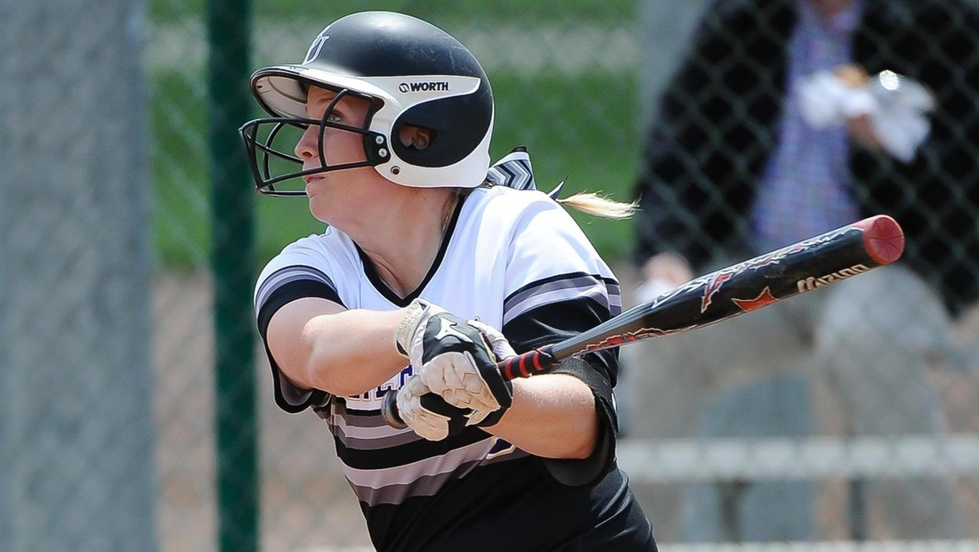Emily Miller went 4-for-7 on the day, with a double, a triple and three RBIs.